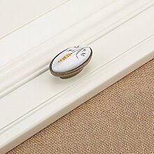 DaMonicv Keramik griff Kleider Schrank Schränke pastorale Einfachheit Muster Tür Möbelbeschläge Einloch Griff