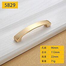 DaMonicv Metallschrank mit modernen, minimalistischen Kleiderschrank Schublade griff Golden Möbel Hardware Cabinet Griff,96 MM