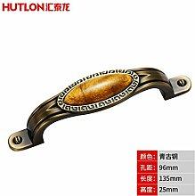DaMonicv Solide Möbel Schrank Türgriff pure bronze Western Chinesische klassische Schublade griff 7991,96 mm