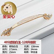 DaMonicv Weißes Gold kontinentalen Raum Aluminium Griff etwa Schubladen Schrank Tür Griff 128 mm