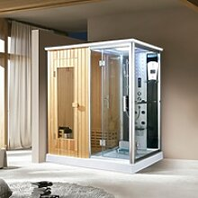 Dampfdusche Chicago inkl. Saunafunktion 170x120cm