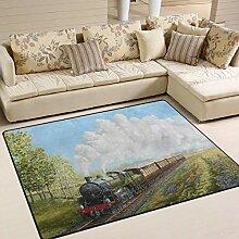Dampfzug und Eisenbahnbereich Teppich 4 'x