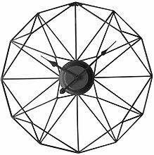 DAN DISCOUNTS 50cm Wanduhr Metall Durchmesser