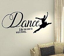 Dance Like No One Watching...–Ballett Dream Life Kinder Home Love Zitat Wand Vinyl Aufkleber Aufkleber Art Decor DIY