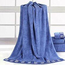DANCICI Handtuch Heimtextilien Baumwoll Bad Handtuch Schmieden Verdickung Wasser Erwachsene Erwachsene Bademode, blau