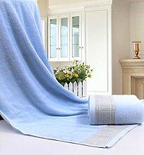 DANCICI Pure Cotton Badetücher zur Erhöhung der Verdickung der erwachsenen Farbe Hotel Hotel Geschenk Weiches Wasser Baden Männer und Frauen, Blau