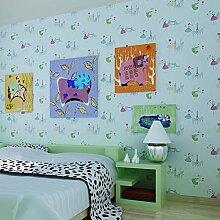 Dancing Cartoon Mädchen Hintergrundbilder/Prinzessin Zimmer Tapete/warme Schlafzimmer Tapeten/Rosa Vliestapete/Kinder Zimmer Bett Tapete-A