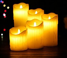 DANDANJIE Kerze-romantische Lichter LED flackernde