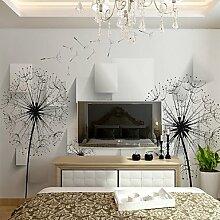 Dandelion Wallcover Einfache moderne 3D Wallpaper Schlafzimmer TV Hintergrund Wallpaper Wallpaper Wohnzimmer Made Made Fresco European XL XXL XXXL , xxl