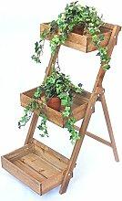 DanDiBo Blumentreppe Holz Fiora 90 cm Braun