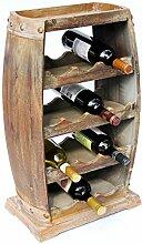 DanDiBo Flaschenhalter Holz Weinregal Weinfass