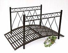 DanDiBo Gartenbrücke Metall mit Geländer 111252