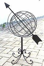 DanDiBo Globus aus Metall 101806 Sonnenuhr aus Schmiedeeisen 72 cm Gartenuhr Gartendeko