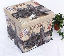 DanDiBo Hocker aus Kunstleder Sitzhocker 2002 Aufbewahrungsbox 40 cm Sitzwürfel Truhe Korb