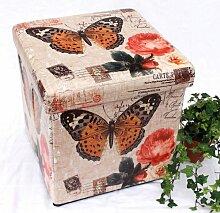 DanDiBo Hocker aus Kunstleder Sitzhocker 2218 Aufbewahrungsbox 40 cm Sitzwürfel Truhe Ko