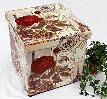 DanDiBo Hocker aus Kunstleder Sitzhocker 2220 Aufbewahrungsbox 40 cm Sitzwürfel Truhe Kor