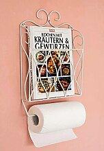 DanDiBo Küchenrollenhalter Zeitungsständer Weiß