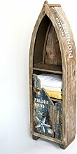 DanDiBo Regal Boot in Bootsform aus Holz Antik