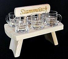 DanDiBo Schnapsbrett 20 cm mit Gravur Stammtisch