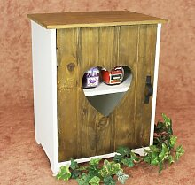 DanDiBo Schrank Minikommode 12021 Küchenschrank Regal 35 cm Shabby Küchenregal mit Herz