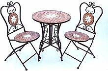 DanDiBo Sitzgruppe Merano 12001-2 Gartentisch + 2