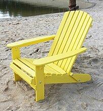 DanDiBo Strandstuhl aus Holz Gelb Gartenstuhl