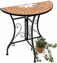 DanDiBo Tisch Halbrund Konsolentisch Wandtisch