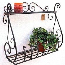 DanDiBo Wandblumenhalter Sebino Blumenständer aus Metall Wandregal Blumenregal Regal (1)