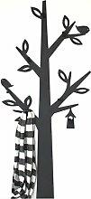 DanDiBo Wandgarderobe Metall Schwarz Baum