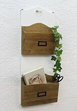 DanDiBo Wandregal Zeitungsständer 12028 Regal 63cm mit Herz Küchenregal Zeitungshalter