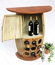 DanDiBo Wandtisch Weinfass Weinregal halbrund 1500