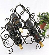 DanDiBo Weinregal aus Metall für 10 Flaschen