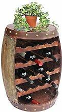 DanDiBo Weinregal Holz mit Ablage Weinfass 1546