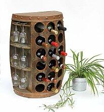 DanDiBo Weinregal Holz Vintage Weinfass