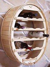 DanDiBo Weinregal Holz Wand Weinfass für 18