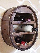 DanDiBo Weinregal Holz Wand Weinfass für 6