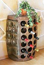 DanDiBo Weinregal Holz Weinfass 1486 Beistelltisch