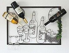 DanDiBo Weinregal mit Glashalter Wand Wandbild
