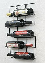 DanDiBo Weinregal Wand aus Metall Flaschenhalter