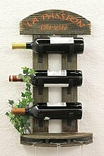 DanDiBo Weinregal Wandregal 5091 aus Holz 60 cm