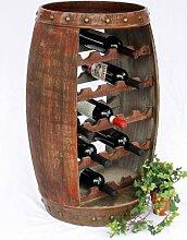 DanDiBo Weinregal Weinfass 0370-R Fass aus Holz