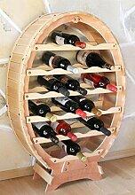 DanDiBo Weinregal Weinfass aus Holz für 24