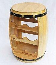 DanDiBo Weinregal Weinfass Fass aus Holz H-42 cm