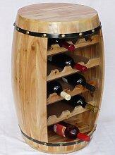 DanDiBo Weinregal Weinfass Fass aus Holz H-70 cm