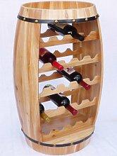DanDiBo Weinregal Weinfass Fass aus Holz H-81 cm