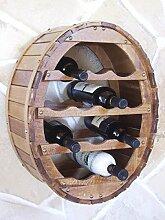 DanDiBo Weinregal Weinfass für 12 Flaschen Braun