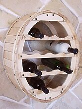 DanDiBo Weinregal Weinfass für 12 Flaschen Natur