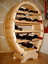 DanDiBo Weinregal Weinfass für 18 Flaschen Natur