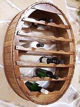 DanDiBo Weinregal Weinfass für 24 Flaschen Braun