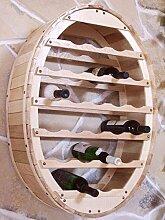 DanDiBo Weinregal Weinfass für 24 Flaschen Natur